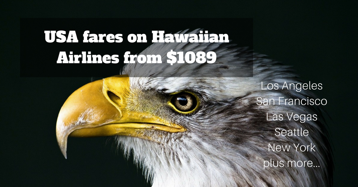 Hawaiian airlines airfare USA