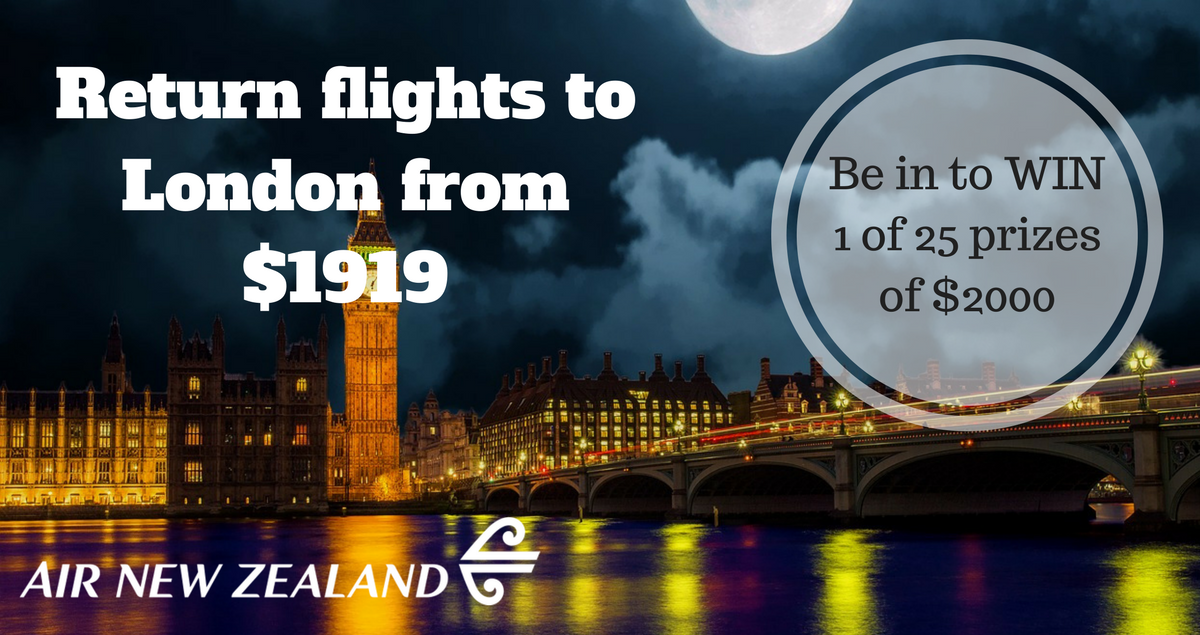 Air New Zealand flights 2018 Earlybird