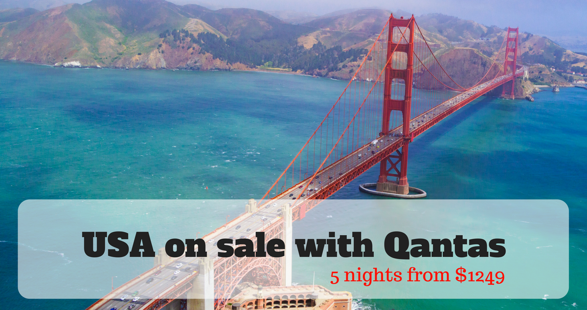 USA SALE with Qantas to New York, San Francisco and Anaheim