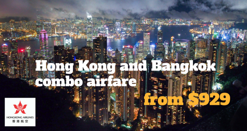 Hong Kong and Bangkok airfare