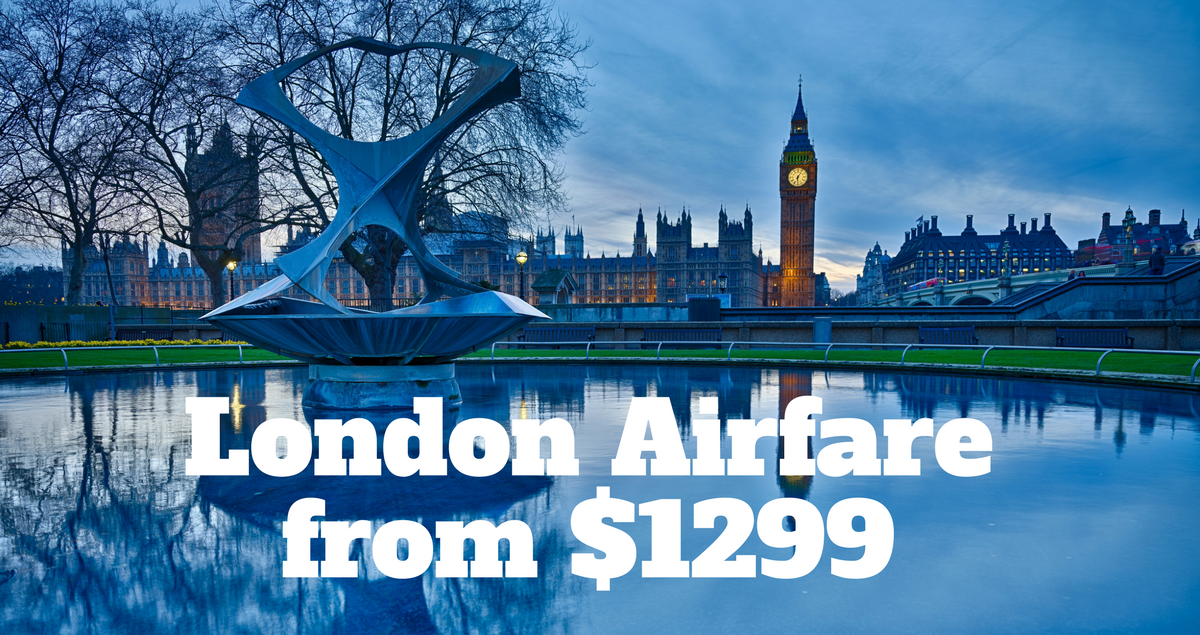 London Airfare on sale from $1299