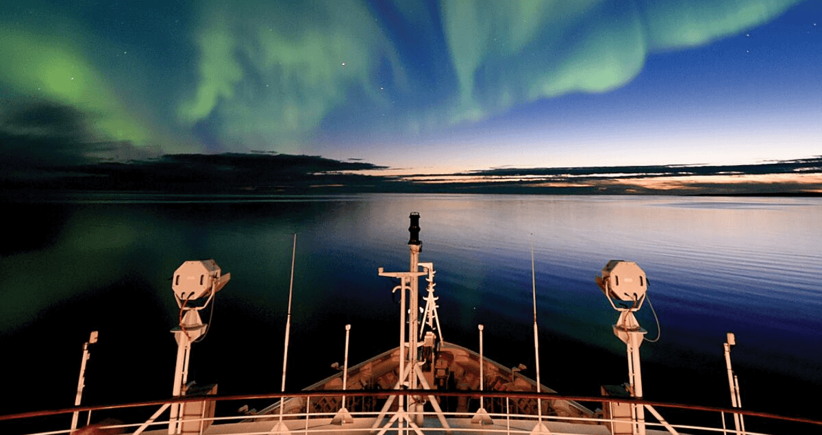 Ponant Arctic cruises sale lights