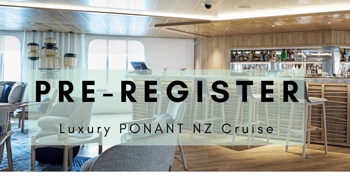 PRE REGISTER Luxury Ponant NZ cruise